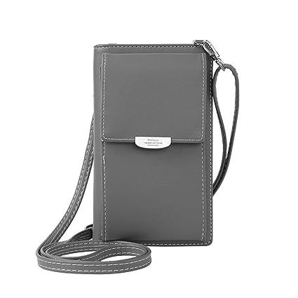 d15da4236bc Stylish Women Girls Leather Wallet Cute Small Coin Purse Mini Shoulder Bag  Travel Clutch Bag Crossbody