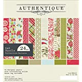 Authentique Paper Bundle Cardstock Pad, 6 x 6-Inch, Believe, 24-Pack