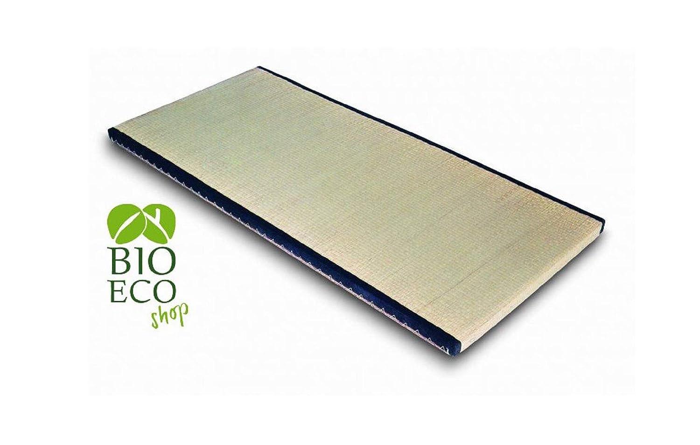 BIOECOSHOP CopriFuton con Angoli Elastici in Cotone Bioeco Re Mis 90 x 200 Cm Singolo Tinta Ecru Made in Italy