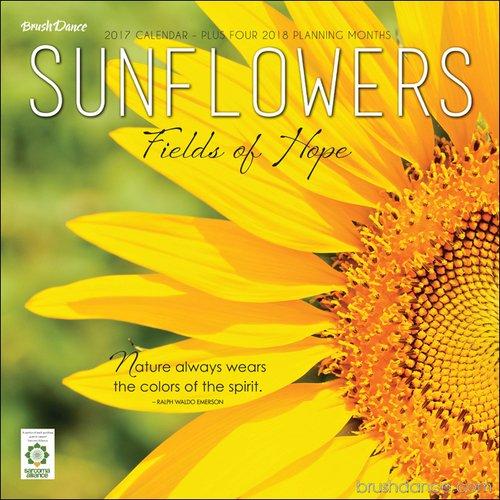 Sunflowers Calendar 2017 -- Deluxe Sunflowers Wall Calendar (12x12)