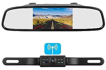 "Waterproof Reverse Car Backup Camera 4.3/"" Rear View Mirror Monitor Parking Ki"