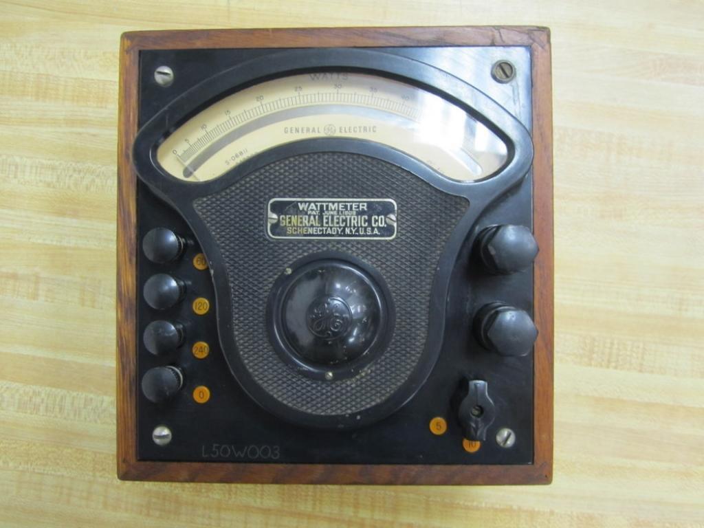 General Electric 347822 Antique Low Pf Watt Meter Vintage Ge Industrial Thql1120afp2 Arc Fault Circuit Breaker At Scientific