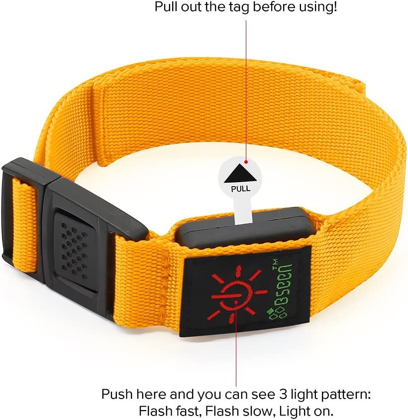Pet Owners Joggers 2 Pack High Visibility Light Up Sports Wristbands BSEEN LED Armband Cyclists Adjustable Glowing Bracelets for Runners