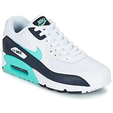 best website a9aeb efa7b Nike Mens Air Max 90 Essential Gymnastics Shoes, (White Aurora Green 102),