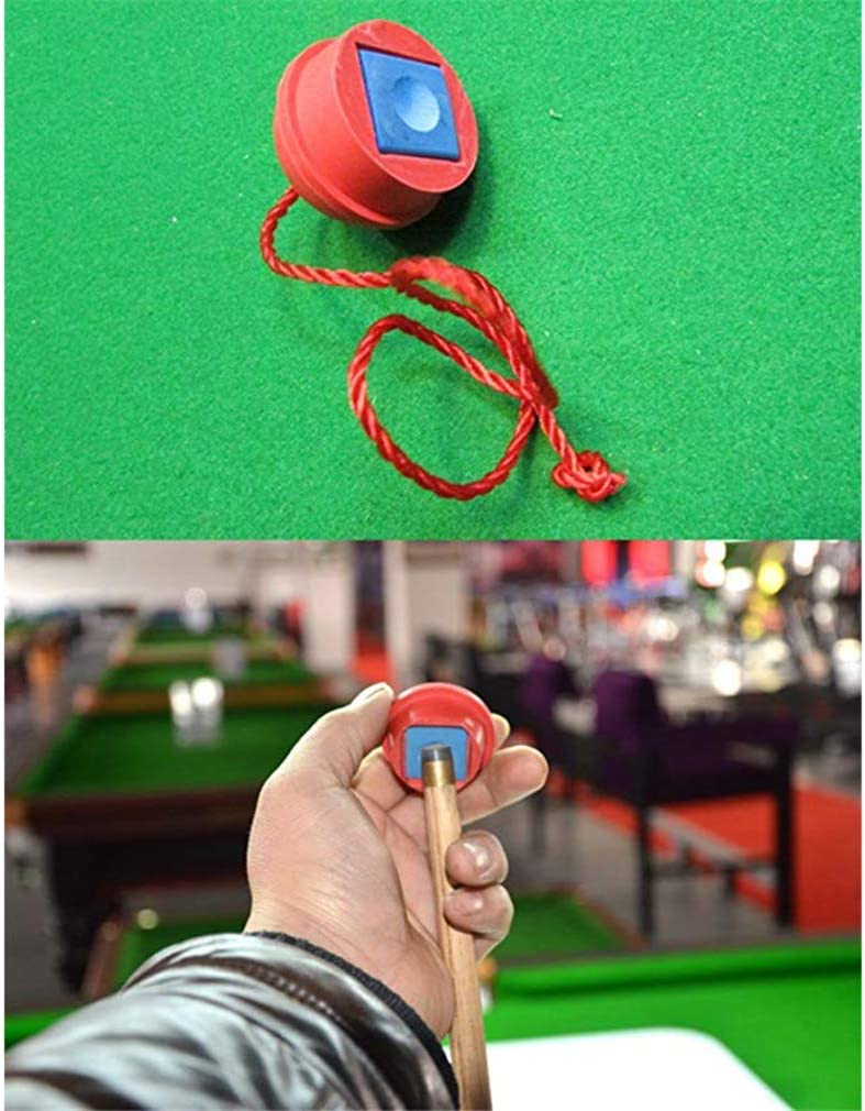 Pinhan Rubber Pool Table Billiard Snooker Chalk Holders Cue Tip Prep Tool with String,blue