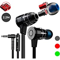 Audífonos Gamers G25 Bullet Compatibles con PC, Xbox One, PS4, Nintendo Switch, Entrada 3.5mm (Negro)