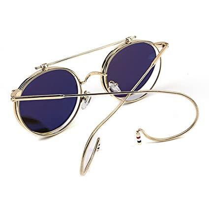 Cvoo Steam Punk Gothic Vintage Clamshell Hook Up Metal Sunglasses For Women/Men O7yBBgH