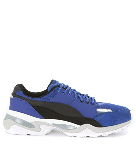 ae04d51ffaea Puma Alexander McQueen Tech Runner Lo Blue Mens Trainers Size UK 6   Amazon.co.uk  Shoes   Bags