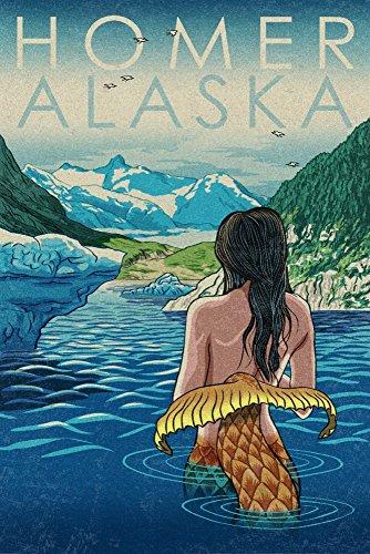 Homer, Alaska - Mermaid and Glaciers