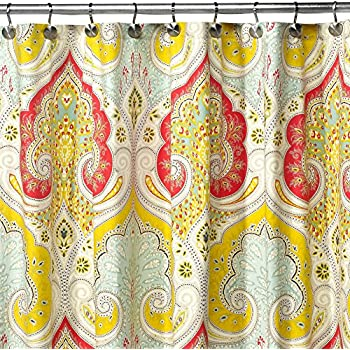DS BATH Medina Saffron Shower CurtainMildew Resistant Fabric CurtainContemporary Curtains