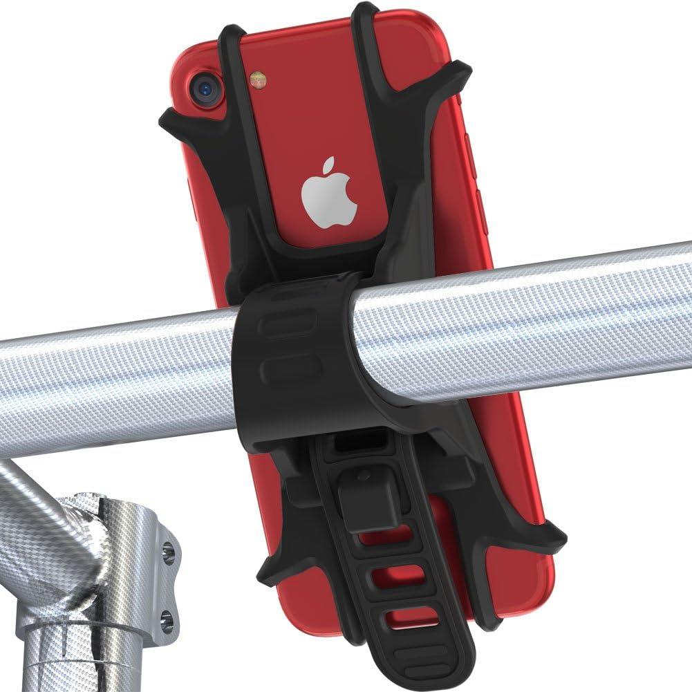 Soporte del Teléfono Móvil para Bicicletas y Motos Universal Ultra Estable, con una sujeción perfecta--Fnova (Negro): Amazon.es: Electrónica