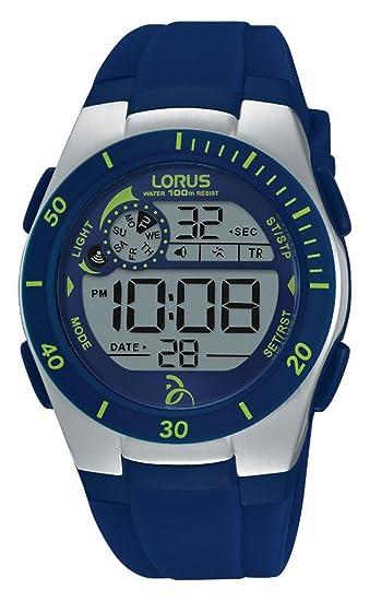 Lorus Watches Reloj Unisex de Pulsera Novak Djokovic Foundation, Digital, de Cuarzo, Correa de Caucho R2377KX9: Amazon.es: Relojes