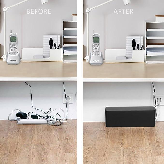 Baskiss Kabelbox Maxi Mit Gummifüßen Kabelmanagement Elektronik