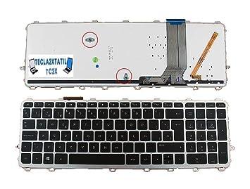 Teclado Compatible DE Y para PORTATIL HP Envy 15-J007SS EN ESPAÑOL Nuevo con LUZ RETROILUMINADO Backlit Marco Plata/Gris Ver Foto: Amazon.es: Electrónica