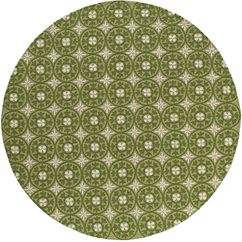 Momeni Rugs VERANVR-26GRS900R Veranda Collection, Contemporary Indoor & Outdoor Area Rug, Easy to Clean, UV protected & Fade Resistant, 9' Round, Grass Green ()