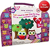 SEWING KIT FOR KIDS, DIY craft for kids, The Most Wide-Ranging Kids Sewing Kit With Over 110 Quality Kids Sewing Supplies, Includes booklet of cutting shapes stencils for the first step in sewing.