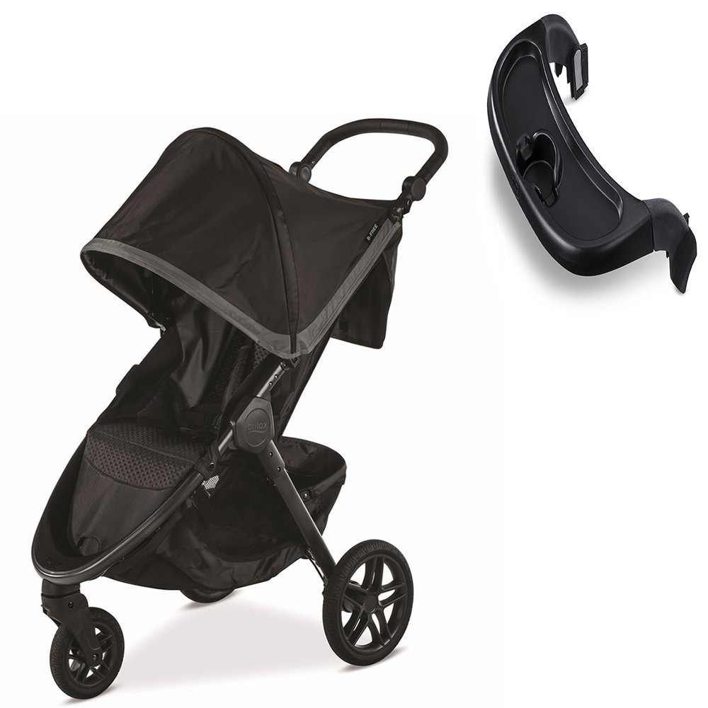 Britax B-Free Stroller, Pewter With Tray Set