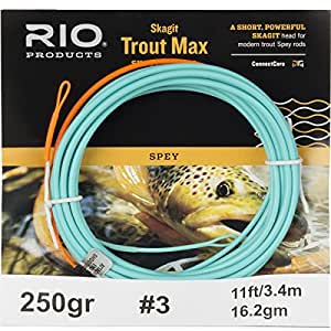 RIO Fly Fishing Fly Line Skagit Trout 150gr Fishing Line, Teal/Orange