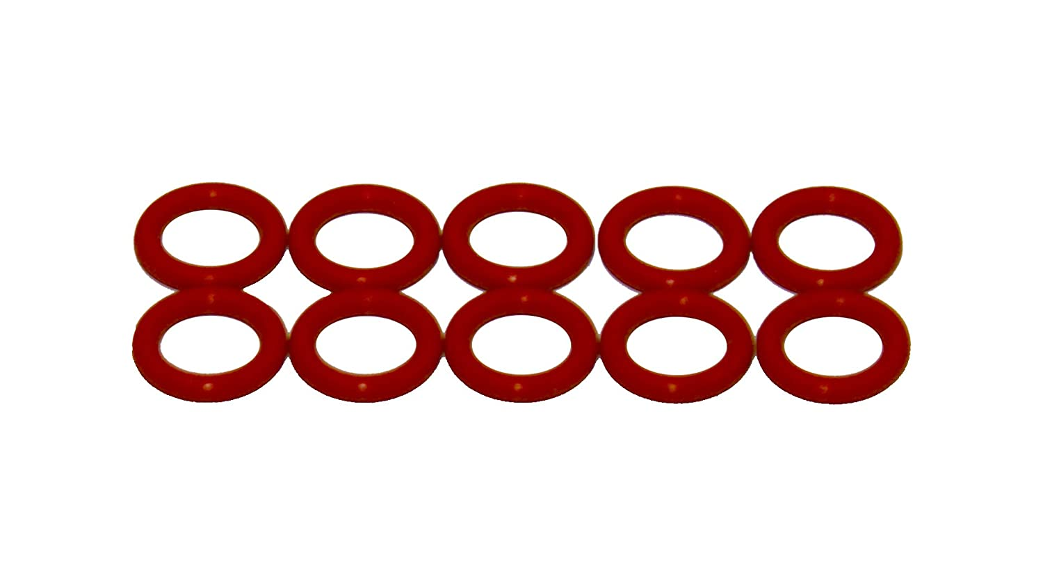 70 Durometer Hardness Pack of 10 Sterling Seal ORSIL012x10 Number-012 Standard Silicone O-Ring 3//8 ID 1//2 OD 1//2 OD Sur-Seal Inc. 3//8 ID Pack of 10 Excellent Resistance to Oxygen Vinyl Methyl Silicone Ozone and Sunlight