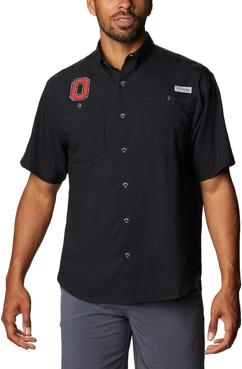NCAA Ohio State Buckeyes Men's Tamiami Short Sleeve Shirt, XX-Large, OS - Black : Clothing