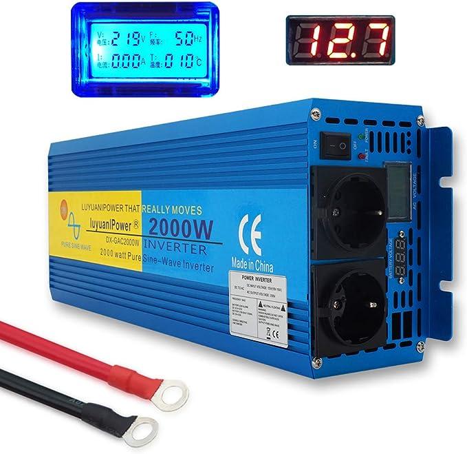Yinleader 2000w Kfz Reiner Sinus Wechselrichter Auto Elektronik