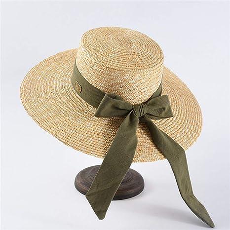 QQHBC Sombrero De Paja Mujeres Moda Rafia Sol Sombreros Verano ...