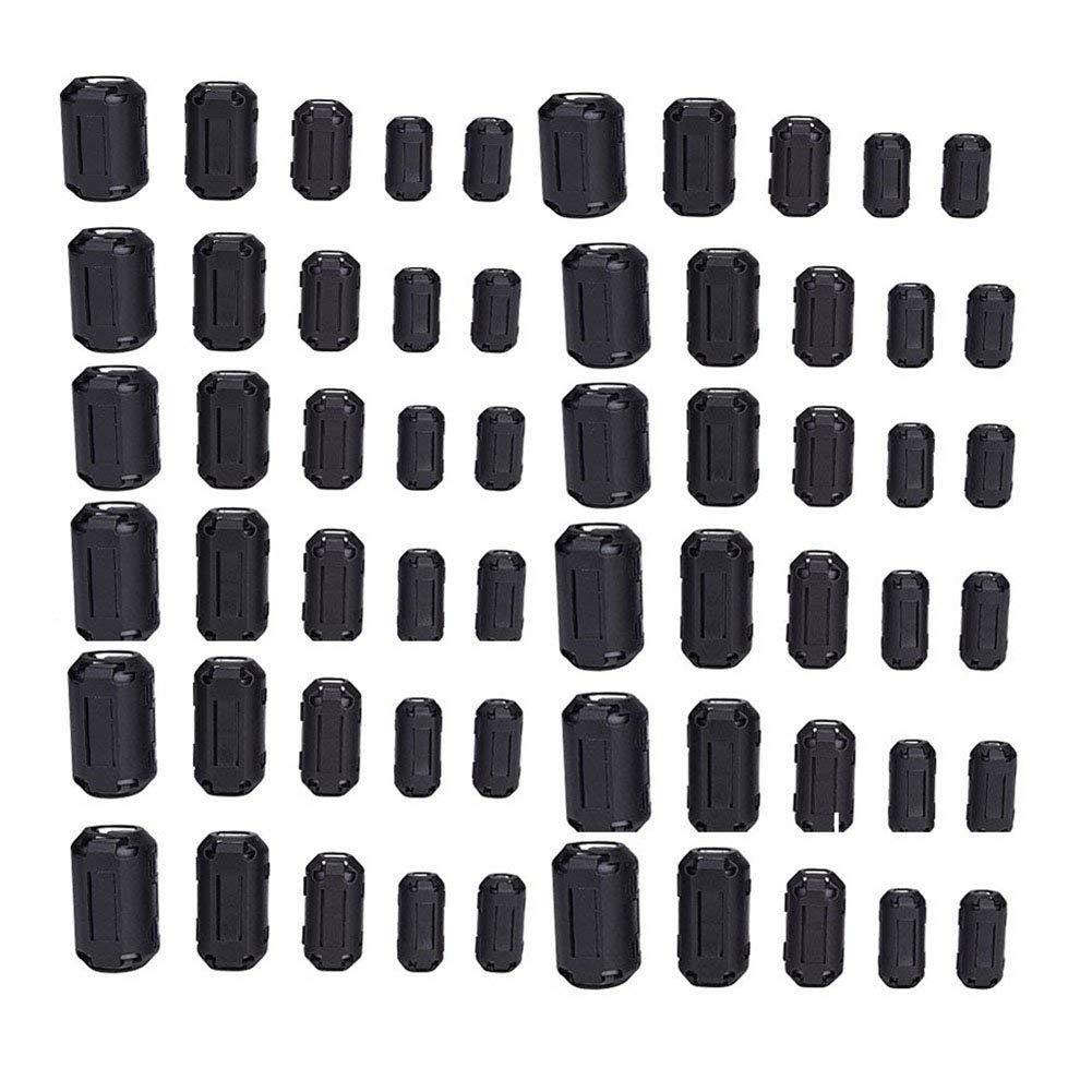 10Pcs Snap sur 5 Mm Clip-Sur le bruit noyau de ferrite Ring Bead filtre RFI EMI Câble Clip