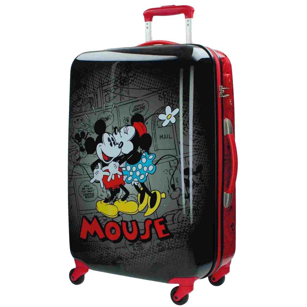 Disney Koffer Mickey und Minnie Kindergepäck, 53 Liter, Schwarz