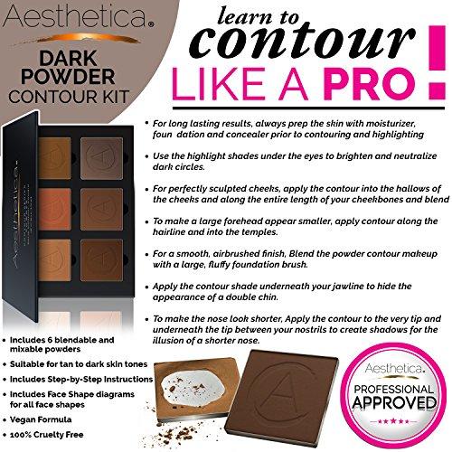 Amazon.com : Aesthetica Contour Series - Tan to Dark Powder ...