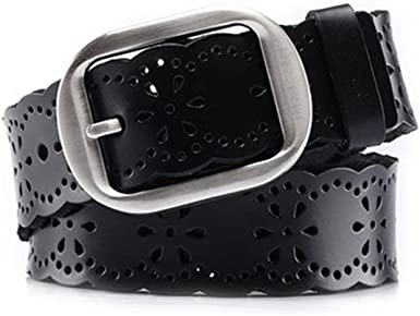 Womens Real Leather Small Belt 1inch Wide Jeans Waist Straps For Women