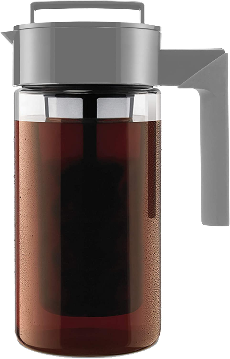 Takeya Patented Deluxe Cold Brew Coffee Maker, One Quart, Stone