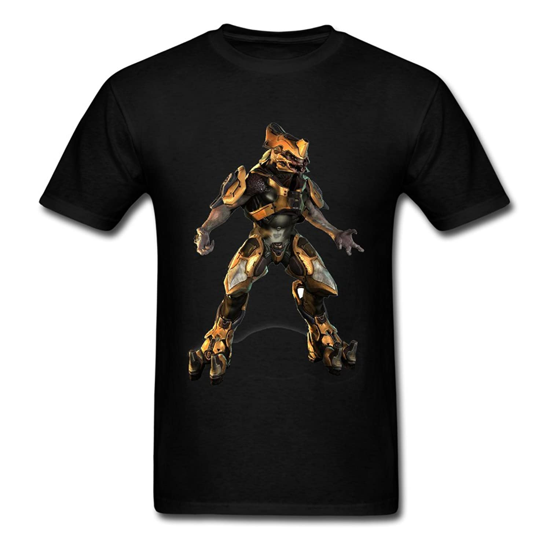 50% Off Deals! Halo 5 Guardians Robot LOGO Men's O Neck Tee Black