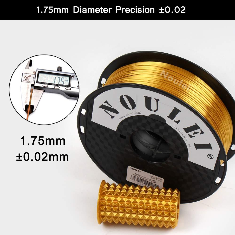 Shiny 3D Printing Filament Silk GOLD 1kg Noulei Filamento PLA per stampanti 3D 1.75 mm