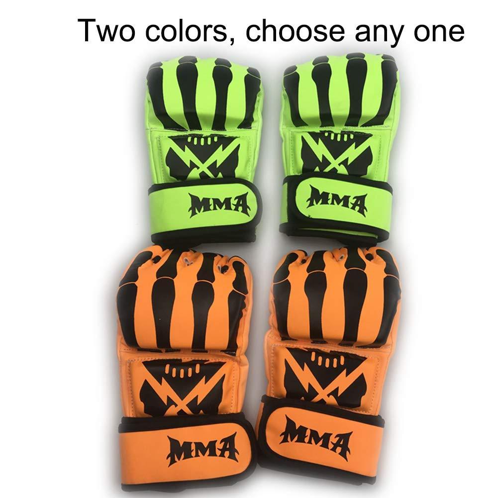 JINYIJUN Fünf-Finger-Boxhandschuhe Fünf-Finger-Boxhandschuhe Fünf-Finger-Boxhandschuhe für Erwachsene, Boxhandschuhe für Muay Thai, MMA-Finger, Grün Orange B07HGZFC76 Boxhandschuhe Sehr gute Klassifizierung 0615f2
