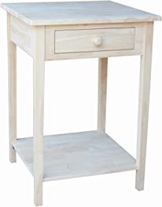 International Concepts Hampton Bedside Table Unfinished