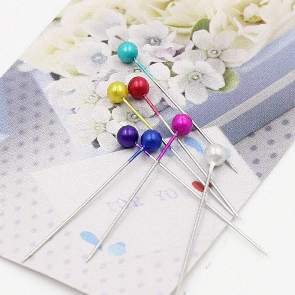 accessoires de couture /épingles d/écoratives Broche /à la main de bricolage avec Bouquet de t/ête de perle ronde projets de couture d/écoration 100 Pcs robuste et /économique