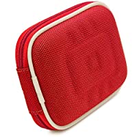 VG Compact (M) Travel Edition Semi Hard Case (Red Nylon) for Kodak EasyShare Compact Point & Shoot Digital Cameras