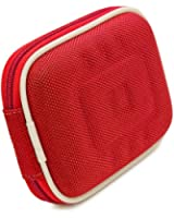 VG Compact (M) Travel Edition Semi Hard Case w/ Removable Carbineer (Red Nylon) for Ricoh CX6 / GR DIGITAL IV US / CX5 / CX4 / CX3 / CX2 / GR Digital I6 / CX1 / GR Digital II Point & Shoot Digital Cameras