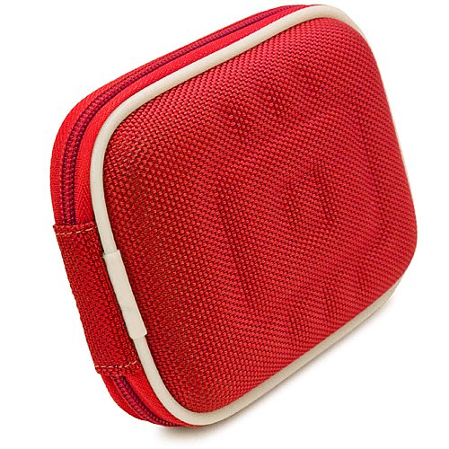 VG Compact (M) Travel Edition Semi Hard Case (Red Nylon) for Canon PowerShot Point & Shoot Digital Cameras