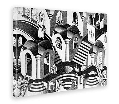 Giallo Bus 450 Quadro Stampa Su Tela Canvas, Escher, Convesso e Concavo, 50 x 70 cm Grafic di Claudio Innamorati