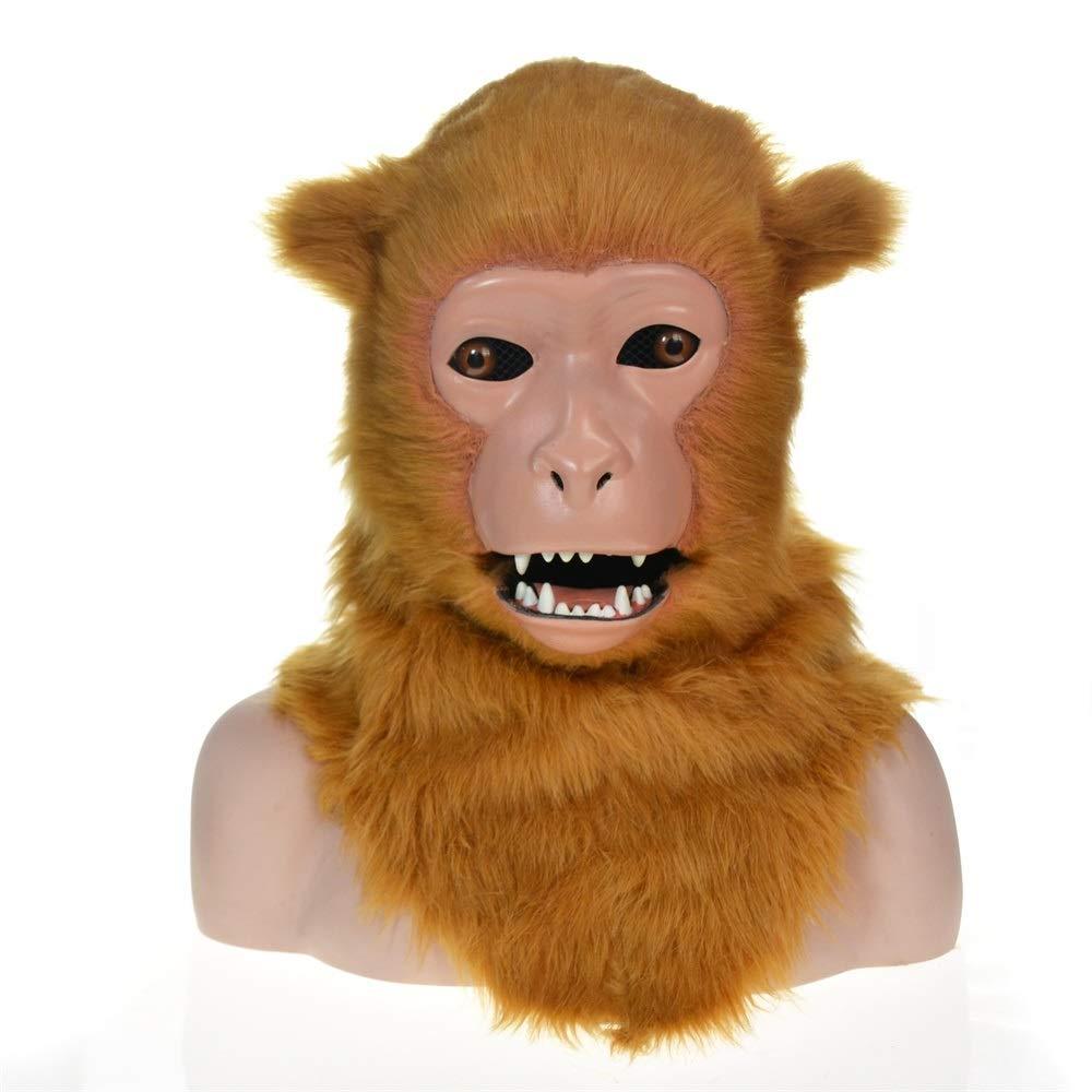 Maschera Animale di Simulazione JIALUN Maschera Animale di Simulazione del Macaco Giallo della Maschera commovente del Partito su Misura Fatta a Mano su Misura di Alta qualità