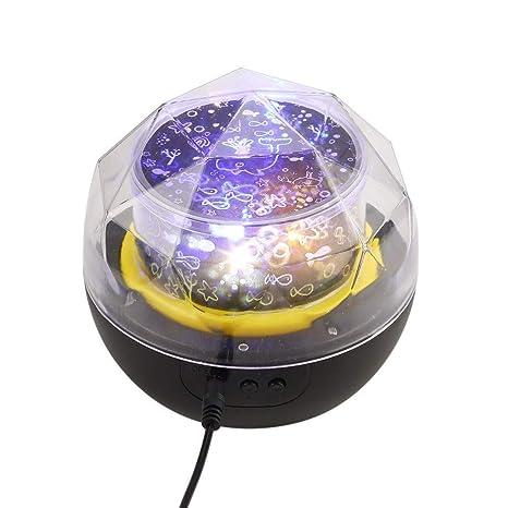 Lámpara regulable con música USB, luz de cristal cielo de la ...