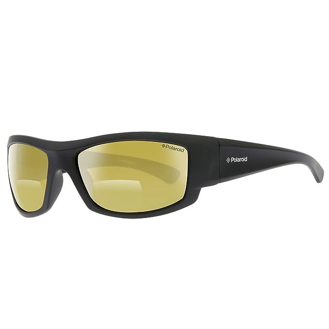 Polaroid P7113D-807, Gafas de Sol para Hombre, Negro, 63