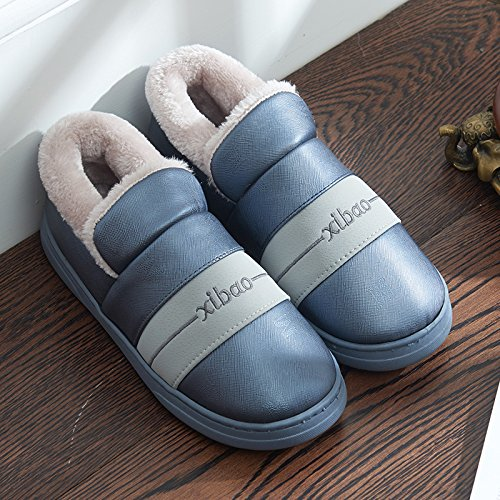 Aemember Couples' Cotton Slippers, Men And Women'S Bags, Indoor Waterproof And Waterproof,42/43 (Suitable For 41/42 Feet At Ordinary Times),Gray