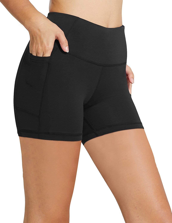 "BALEAF Women's 8"" /5"" /2"" High Waist Workout Yoga Running Compression Exercise Shorts Side Pockets (Regular/Plus Size)"