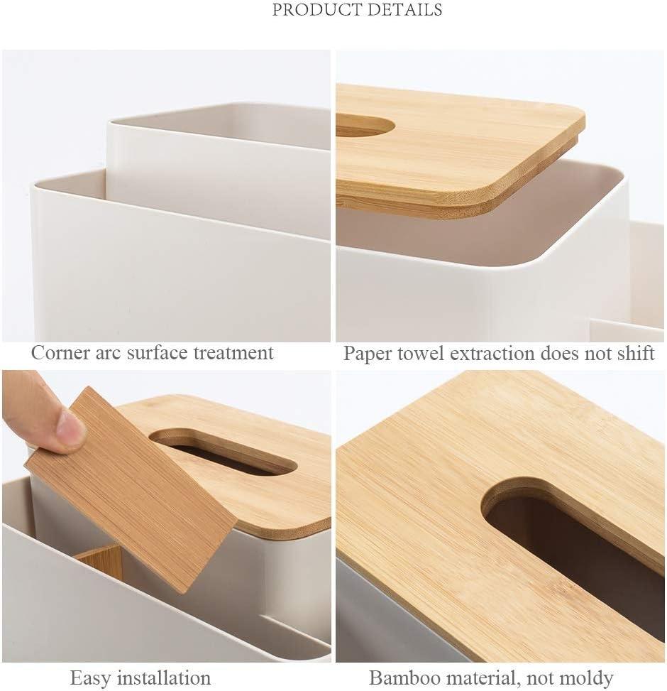 creativa cucina e ufficio L26XW15XH12.2CM a dispenser di asciugamani multifunzione scatola con telecomando per bagno Scatola porta fazzoletti scatola per fazzoletti