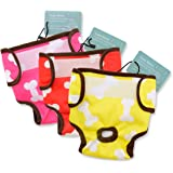 CuteBone 3 PCS Dog Diaper Female Washable Durable Puppy Diapers Doggie Diapers pants Dog wraps Doggy panties diaper for small dogs D0102