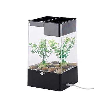 CNMF acuarios y peceras- el Tanque de Agua Nano Puede elevar Plantas y Animales,