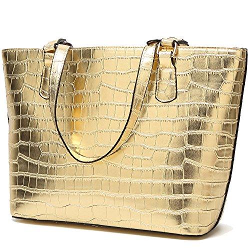 BNWVC Women Top Handle Satchel Handbags Tote Purse Crocodile Leather Shoulder  Bag - Buy Online in Oman.  03ba977a96dd5
