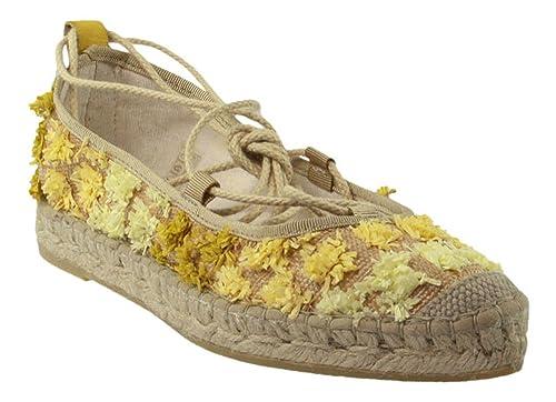 Vidorreta - Alpargatas de tela para mujer amarillo amarillo, color amarillo, talla 39: Amazon.es: Zapatos y complementos